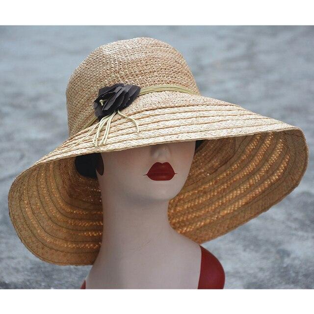 Женщины Вс Hat Мода Соломенная Шляпа Новое Прибытие Широкий Большой Брим Летний Пляж Повседневный Cap A369