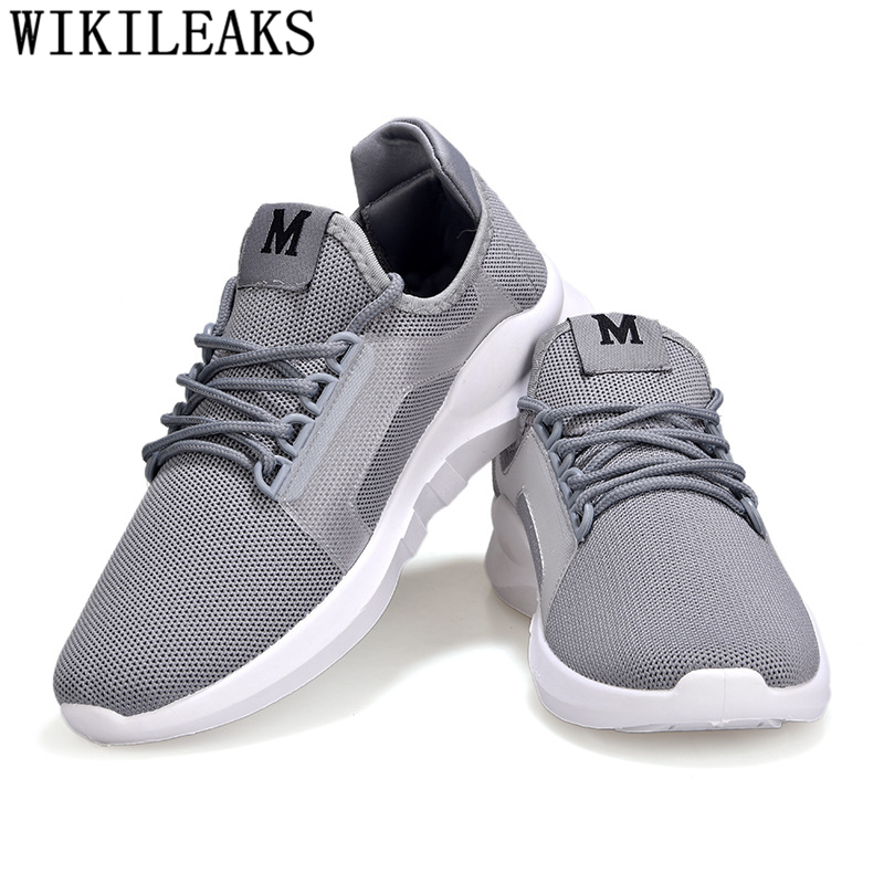 Hommes Pour Homme Respirant blanc gris Feminino Tenis Marque rouge Casual De Fonctionne L'été 2018 Air Designer Mocassins Sneakers Mesh Chaussures Noir Luxe pZWq6t