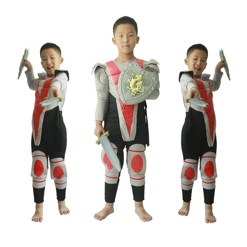 Halloween party Cosplay muscle green soldier warrior party costume Armor Hero costume including sword and shield