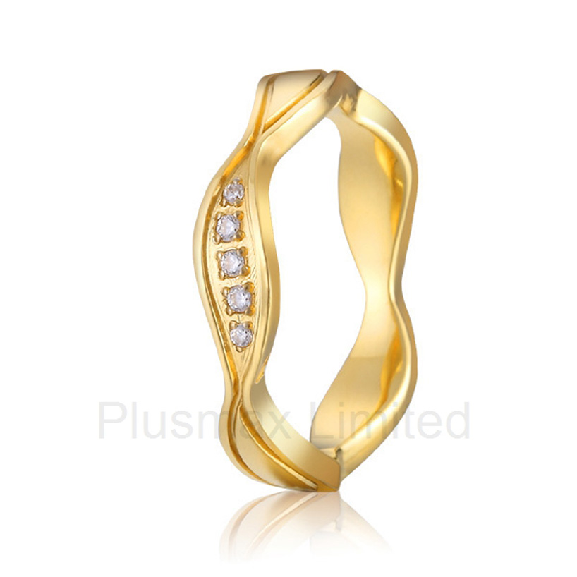 Professional and reliable engrave CNC  gold color titanium womens wedding promise rings