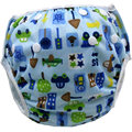 Bebé Swim Pañales Lavables Reutilizables Un Tamaño Pañales de Tela Transpirable Impresión de la Historieta Cubierta Bolsillos Unisex Pantalones de Entrenamiento