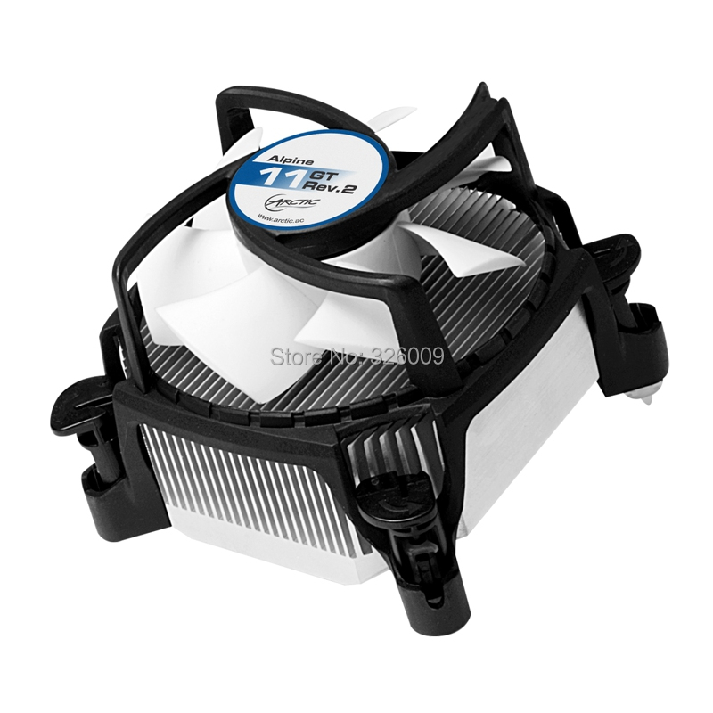 ARCTIC Alpine 11 GT Rev.2 4pin PWM 80mm 8cm fan Cooling TDP 75W cooling for Intel LGA775 1150 1151 1155 1156 CPU cooler fan вентилятор arctic cooling f12 pwm rev 2 afaco 120p2 gba01 120mm