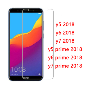 Glass For Huawei Y5 Y6 Y7 Prime 2018 Protective Glass On The Hauwei Huawey Y 5 6 7 Y9 Protect Tempered Glas Y52018 Y62018 Y72018(China)