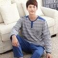 2016 Primavera e Outono novos homens costura simples serviço de casa pijamas ternos