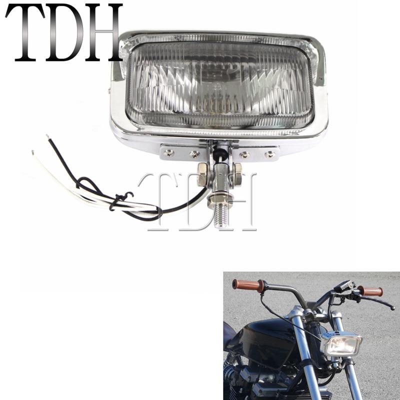 "Universal 4.5/"" Motorbike High Low Beam Head Light Headlight Lamp Cruiser Chopper"