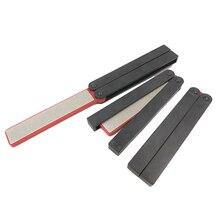 Hot New Double Sided Cutter Sharpener Stone Foldable Grindstone Scissor Whetstone Diamond Sharpening Tool @ ST07 DC156
