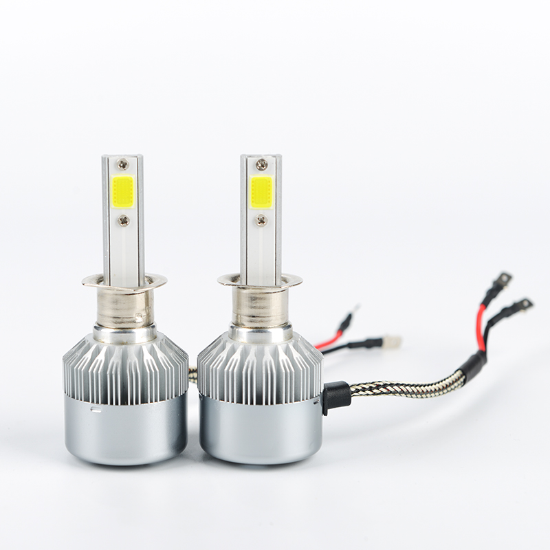 2PCS Car Led Headlight Bulbs Kits Dipped Beam & High Beam COB Auto Headlamps SUV Head Lamps lights 12V 6000K H7 H11 H13 9006 H4
