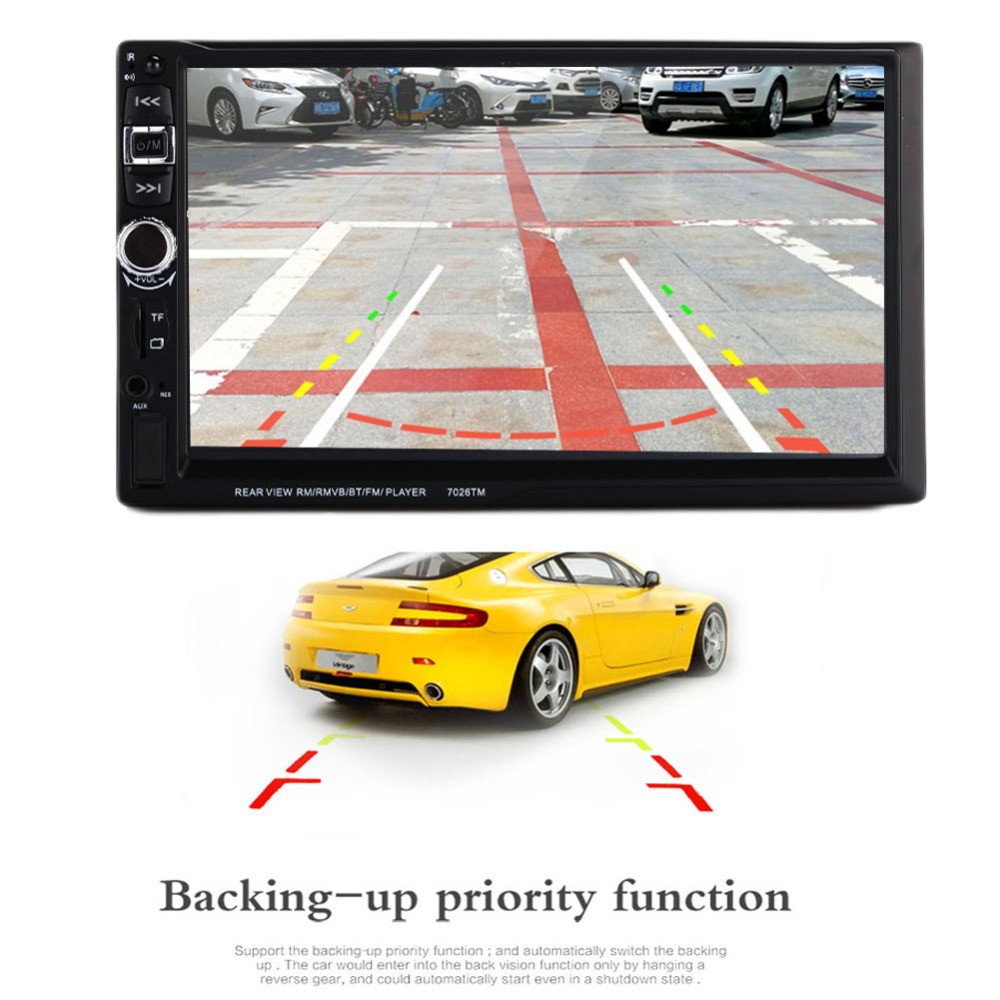 VEHEMO 2 Din 7026TM Car MP5 Player 7 Inch Touch Screen Auto Car MP5 Video Player Radio Remote Control Support Phone Connect