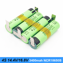 battery 18650 3400mAh for 14.4v 16.8v screwdriver battery weld soldering strip 4S 4S2P 16.8v battery pack (customize)      nov15