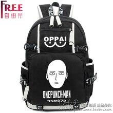 Anime ONE PUNCH-MAN Cosplay OPPAI  Canvas bag animation round women and men birthday reward luminous