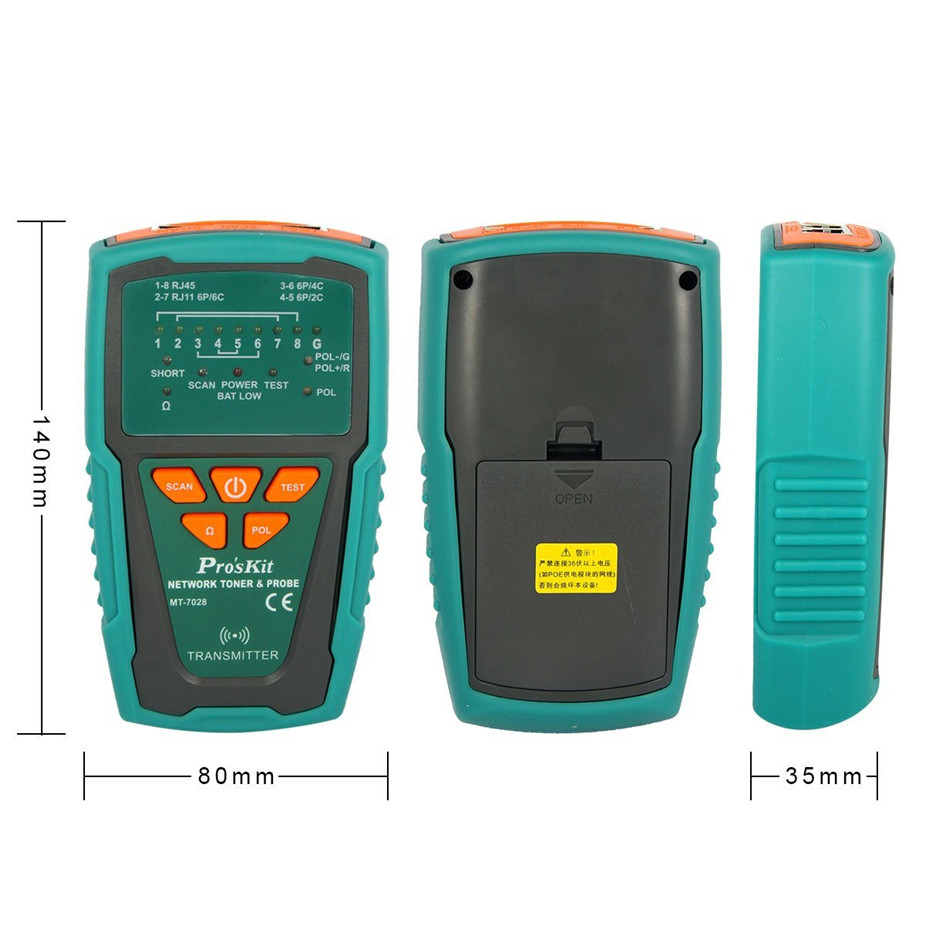 Hot Pro'sKit MT-7028 Network Toner Probe Kit Audio Network Check Line Tester Tracker Networking, Datacom, Audio / Video TV Cable mt 7028 audio cable tester for audio network search and cable fault tester