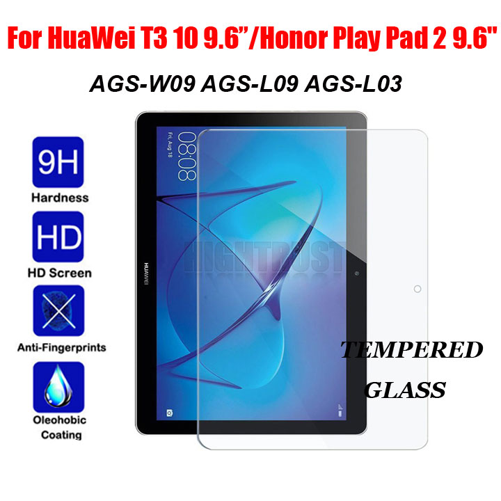 9H Tempered Glass Film For Huawei Mediapad T3 10 9.6 Inches AGS-L09 AGS-L03 AGS-W09 9.6 Tablet Screen Protector Protective Film 9h tempered glass screen protector for huawei mediapad m3 lite 10 bah w09 al00 10 1 inch tablet protective toughened glass film