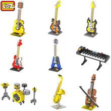 9pcs/lot LOZ Musical Instruments Series Diamond Building Blocks DIY 3D Nano Bricks Toys Children Educational Guitar Violin set