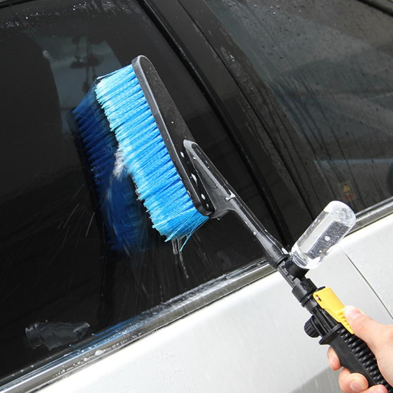 Good Quality Car Wash Brush Auto Exterior Retractable Long Handle Water Flow Switch Foam Bottle Car Cleaning Brush