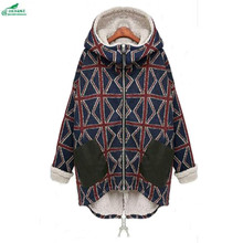 Winter Plus size Thickening women loose lambs plush cotton coat women leisure fat MM cotton Outerwear cotton 4/5XL OKXGNZ QQ1009