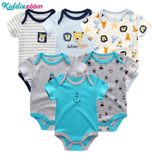 17cccfe0a Newborn Baby Rompers Girls Playsuits Clothes 100% Cotton Striped ...