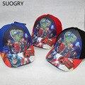 Animación de dibujos animados Flash Marvel The Avengers Iron man Hulk Thor super heroes gorra de béisbol deporte sombrero para los niños chicos envío gratis