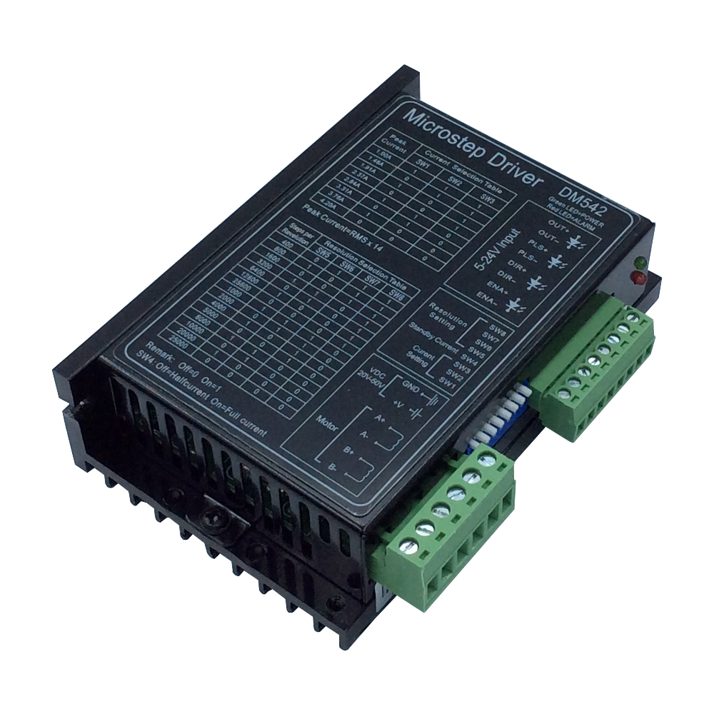 DM542 Digital Stepper Motor Controller Microstep Motor 2-Phase 24-50V for 57 86 Series Motor dm542 stepper motor controller leadshine 2 phase digital stepper motor driver 18 48 vdc max 4 1a for 57 86 series motor