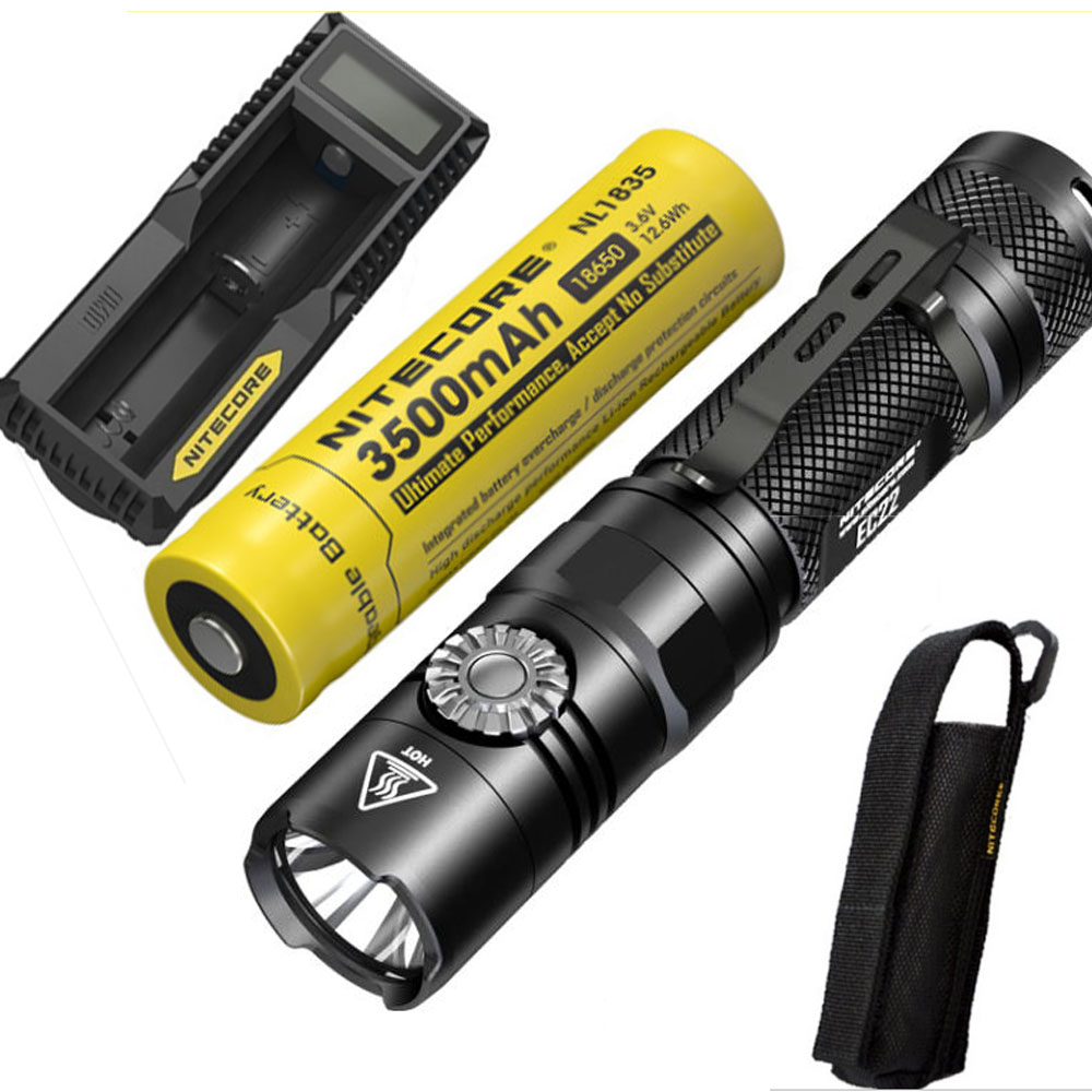 2018 New Nitecore EC22 CREE XP-L HD V6 LED 1000 Lumens Infinitely Variable Brightness Fl ...