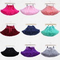 Free Shipping Baby Girls Chiffon Fluffy Pettiskirts Tutu Princess Party Skirts Ballet Dance Wear Kids Petticoat Clothes