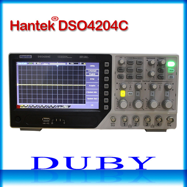 Best Price Hantek DSO4204C Digital Oscilloscope 200MHz bandwidth 4 Channels PC USB LCD Portable Osciloscopio Portatil Electrical Tools