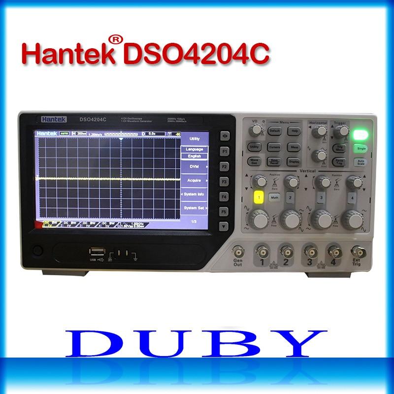 Hantek DSO4204C Oscilloscope Numérique 200 mhz de bande passante 4 Canaux PC USB Portatif D'AFFICHAGE À CRISTAUX LIQUIDES Osciloscopio Portatil Outils Électriques