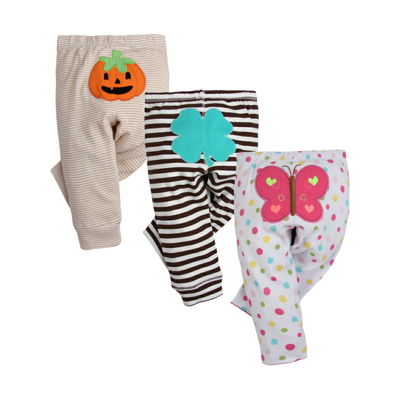 3PCS LOT Fashion Baby Pants Spring Autumn Cotton Infant Pants Cartoon Monkey Baby Gril Pants 0