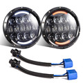 1 set for JEEP 7'' INCH 105W LED Projector headlight Hi/Low beam Indicator Turn Signal Driving light for Wrangler JK TJ