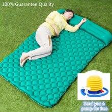 2 человека в воздушный влагостойкий Кемпинг коврики Надувные подушки пикник пляж плед Одеяло домашнего отдыха мягкая кровать туристические коврики