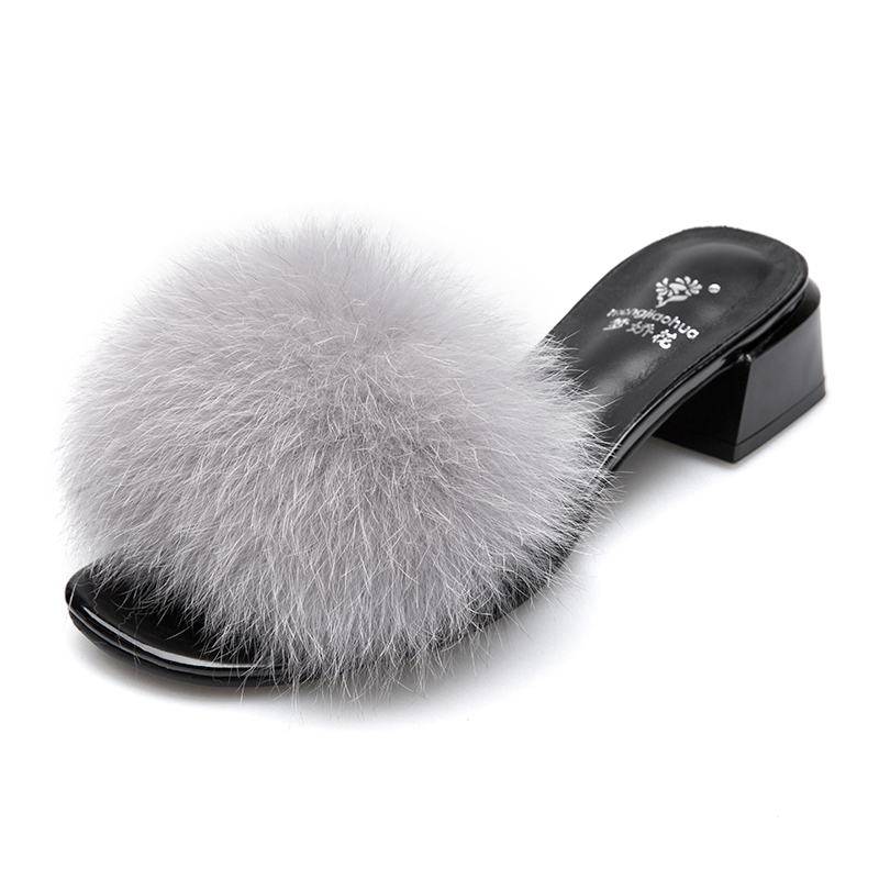 where to buy detailed pictures exclusive range 2019 Natural Sheepskin Fur Slippers Fashion spring summer Slippers ...