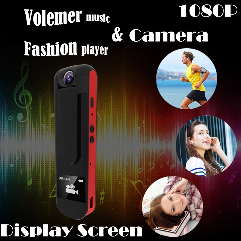 Volemer IDV007 pen mini camcorder MP3 player full HD 1080P Display screen portable mini  ...