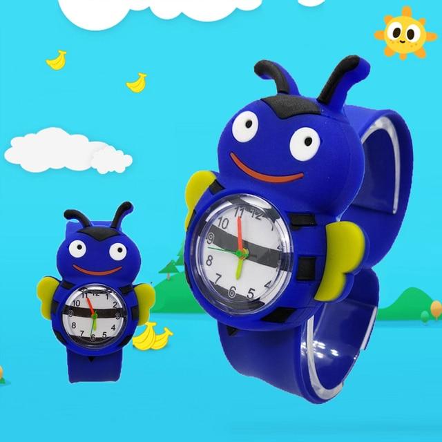 Fashion Cartoon Ladybug Kids Slap Watches Sport Chicken Pat Wristwatches Childre