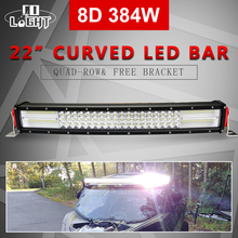 CO LIGHT 22 inch 384W Led Bar 8D Spot Flood Combo Light Auto Driving for Ford Jeep ATV Toyota Offroad 12V 24V