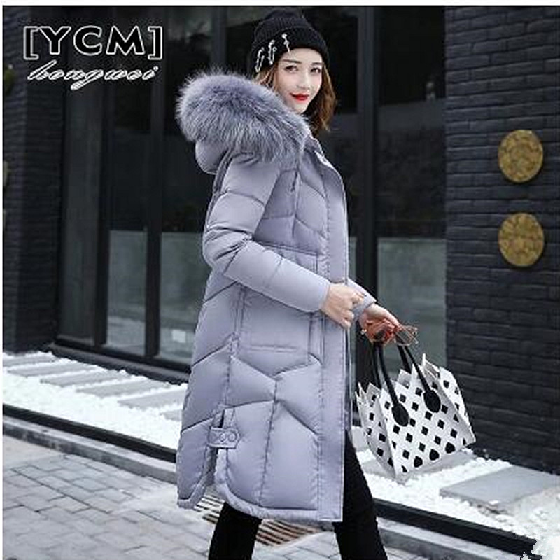 2017 Winter jacket women Thick Long Women Parkas Hooded fur collar Female Outwear Coat Down Cotton Padded Snow Wear snow wear 2017 winter jacket women warm thick long hooded cotton padded parkas causal female big faux fur collar jacket coat
