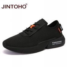 JINTOHO yetişkin erkek rahat ayakkabılar moda erkek spor ayakkabı nefes alan günlük ayakkabılar erkekler için ucuz örgü erkek rahat ayakkabılar