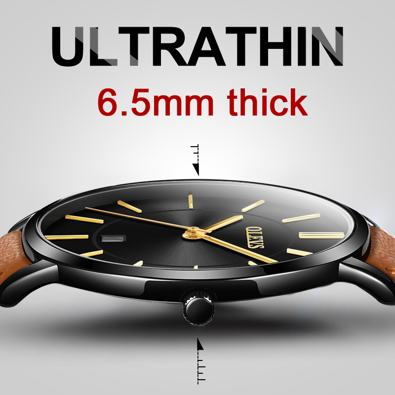 Mens Watches Top Brand Luxury Ultra thin Watch