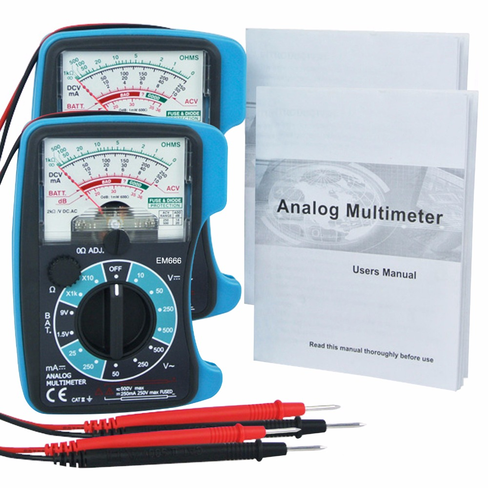 2 pieces x Analog 5 Scales Multimeter DC AC Voltage DC Current ...