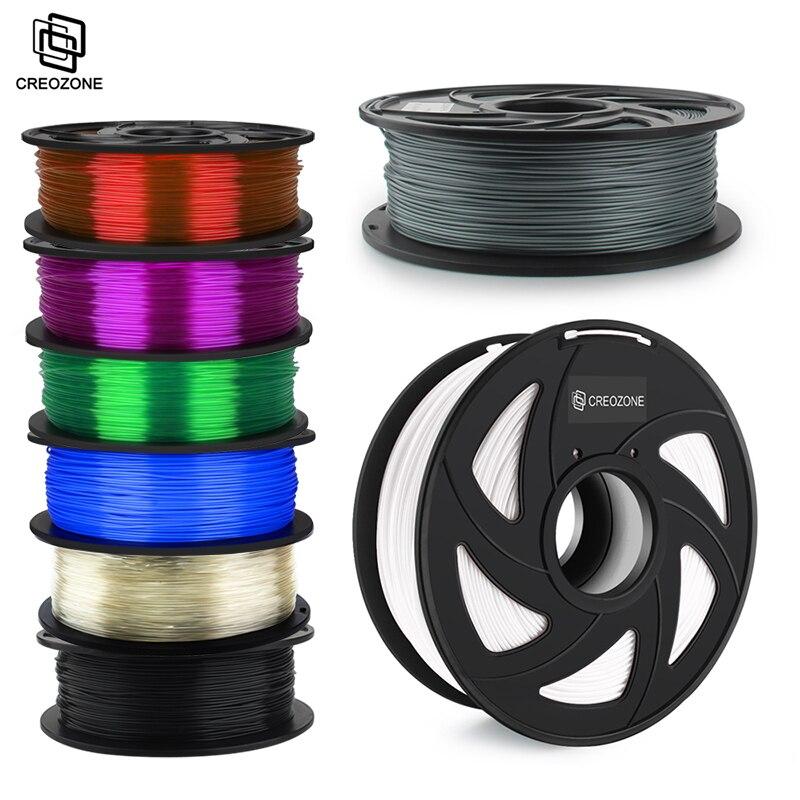 Нить для 3D-принтера CREOZONE, 1,75 мм, 1 кг, PLA, ABS, нейлон, дерево, ТПУ, ПЭТГ, углерод, ASA PC, пластиковая нить для 3d-печати из Испании