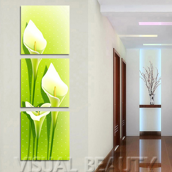 Free Shipping Wall Decorations Living Room Well Designs Painting Canvas Art Unframed 50x50cmx3pcs