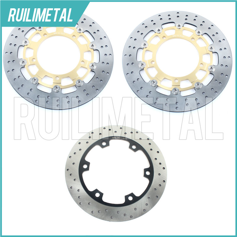 Front Rear Brake Discs Rotors for SUZUKI B-KING 1300 08 09 10 11 2009 2010 2011 GSX 1300 R HAYABUSA 12 13 14 2012 2013 2014 motorcycle accessories brake rotors parts front brake discs rotor for suzuki gsxr1000 2009 2010 2011 2012 2013 2014