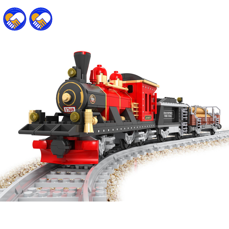 A toy A dream Ausini 25705 Model building kits city train rail 009 3D blocks Educational model building toys hobbies children a toy a dream lepin 24027 city series 3 in 1 building series american style house villa building blocks 4956 brick toys