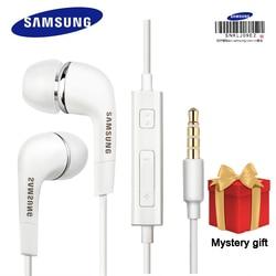 Samsung fones de ouvido ehs64 fones de ouvido com microfone embutido 3.5mm fone de ouvido com fio para smartphones com presente gratuito