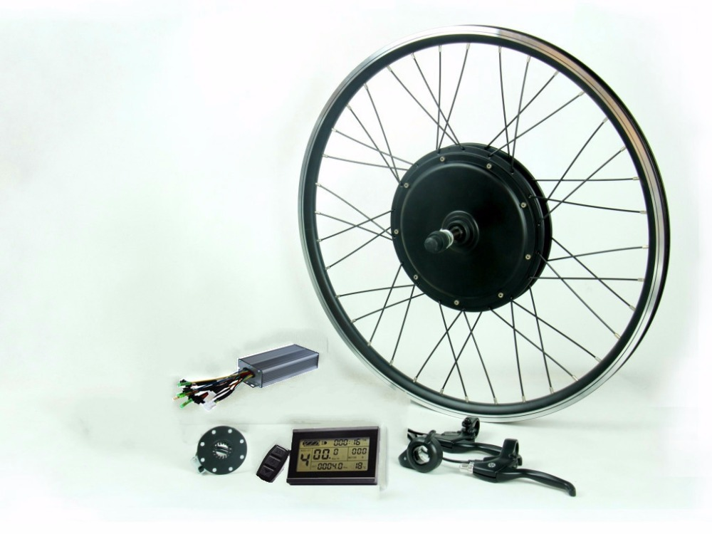 75Kph  60V 1900W electric bike conversion kit with 45H magnets motor,sine wave controller,LCD system for rear electric bicycle