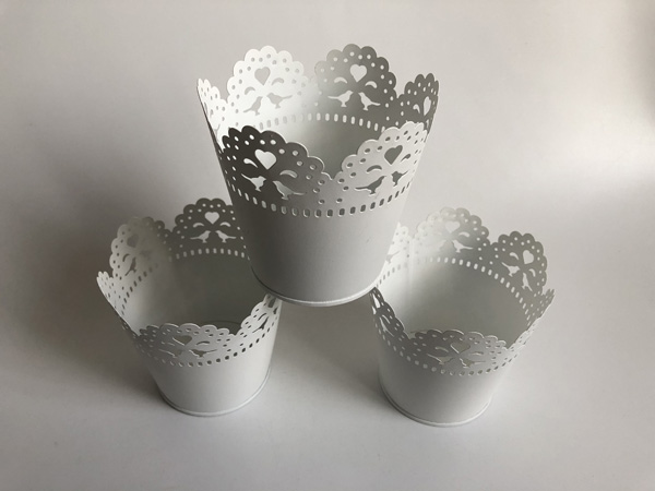 Image 3 - White Metal Vase Small Vase Wedding Decorative Pots Pure White Wedding Centerpieces SF 0517-in Flower Pots & Planters from Home & Garden