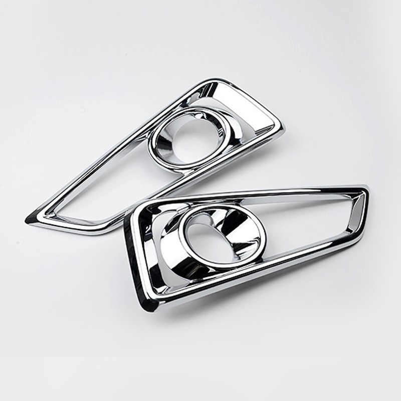 Auto Exterior Accessories For Honda City 2015 2016 ABS Chrome Auto Front Fog light Trim Cover Head Foglights Lamp Protector 2Pcs