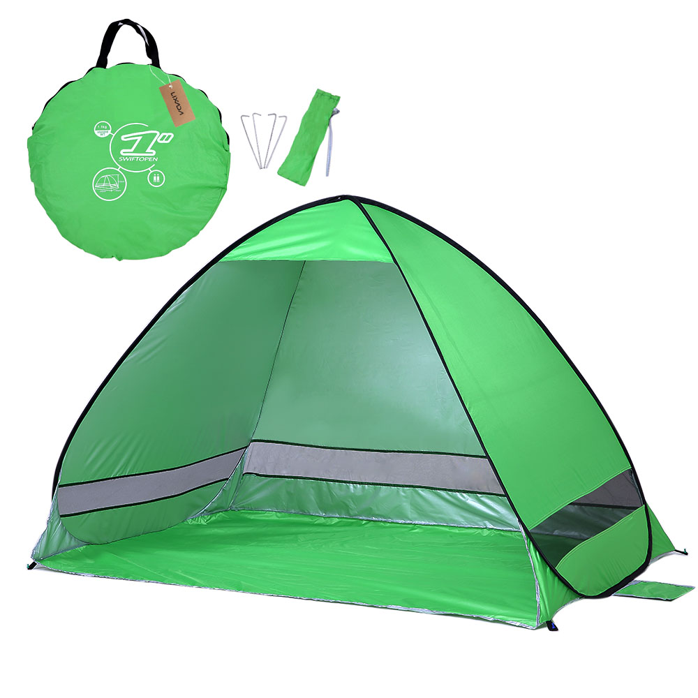 /Lixada Durable Lightweight Tent Waterproof Instant Pop Up Beach Tent UV Protection Sun Shelter Tent Sunshade Canopy for Outdoor