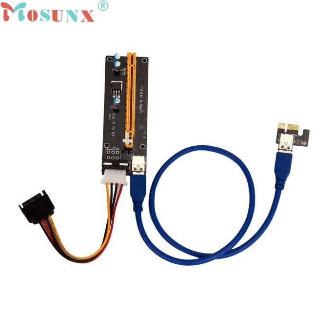 Mosunx Factory Price PCI-E Express Powered Riser Card W/ USB 3.0 extender Cable 1x to 16x Monero 0224 Drop Shipping налобный фонарь sunree 2 sports2