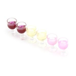 Image 3 - 2Pcs מיני אדום יין כוס סימולציה ריהוט יין זכוכית גביע עבור בובת בית קישוט 1/12 אביזרי בית בובות מיניאטורות