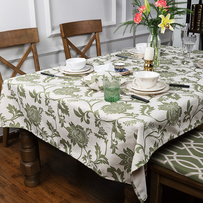 Euporean Pattern Linen Thick Pound Tablecloth Hotel Cafe Restaurant Living Wedding Villa Grass Room Square Table Cloth Cover