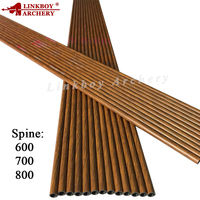 Linkboy Archery 6/12Pcs Carbon Arrow Shaft 30'' ID4.2mm Spine600 700 800 Wood Skin Recurve Bow Archery Hunting / Shooting